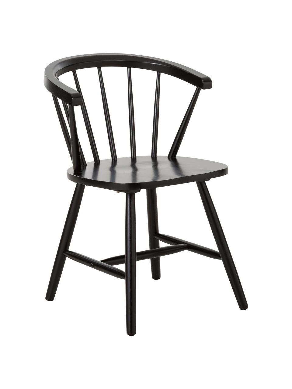 Židle s područkami ve windsorském stylu Megan, 2 ks, Černá