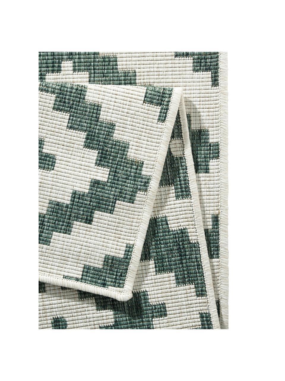 Dwustronny dywan wewnętrzny/zewnętrzny Malta, Zielony, odcienie kremowego, S 160 x D 230 cm (Rozmiar M)