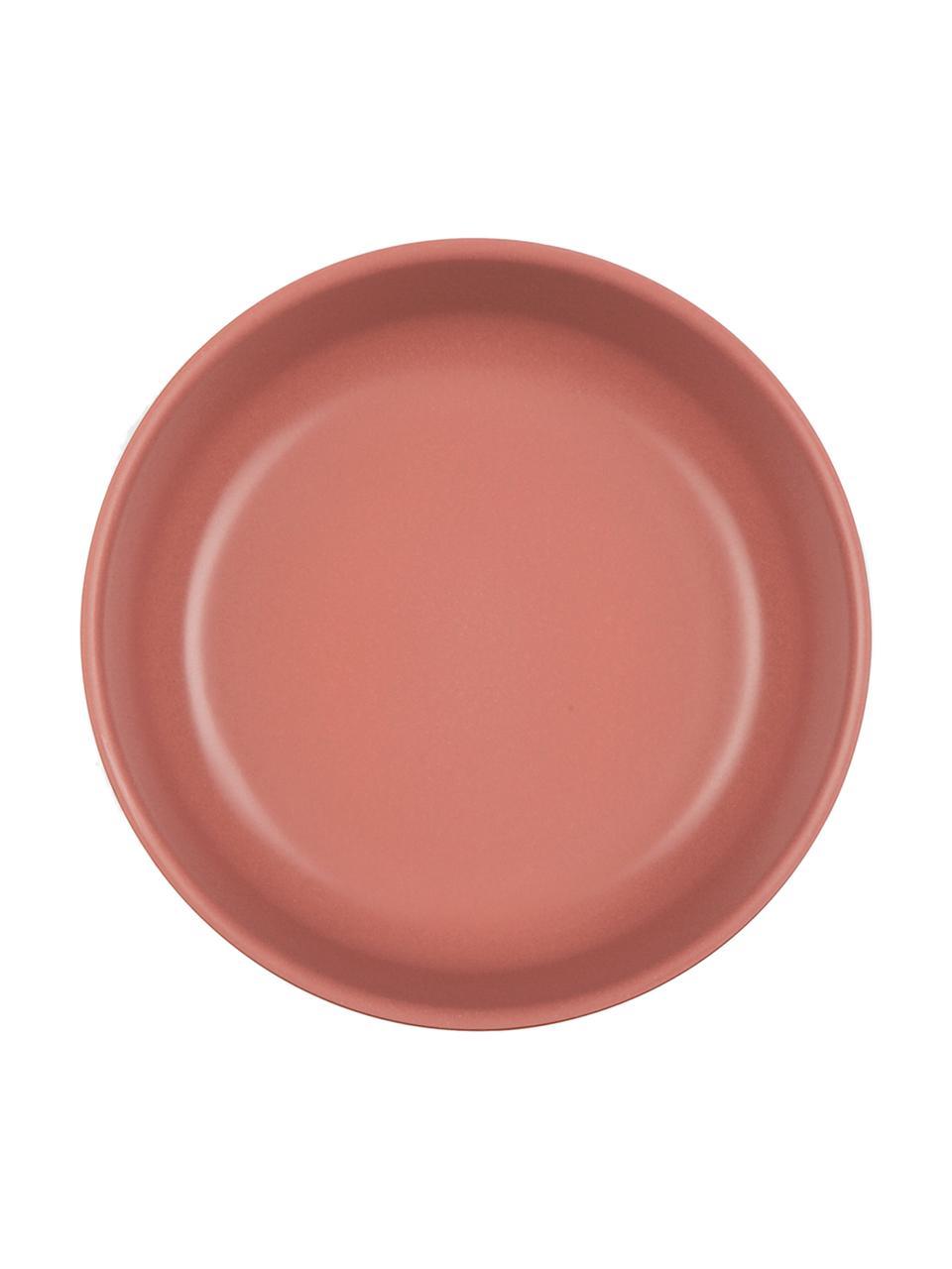 Set ciotole in bambù Bambino 4 pz, Fibra di bambù, melamina, adatto per alimenti Senza BPA, PVC e ftalati, Salmone, grigio chiaro, grigio, rosso terracotta, Ø 15 x Alt. 5 cm