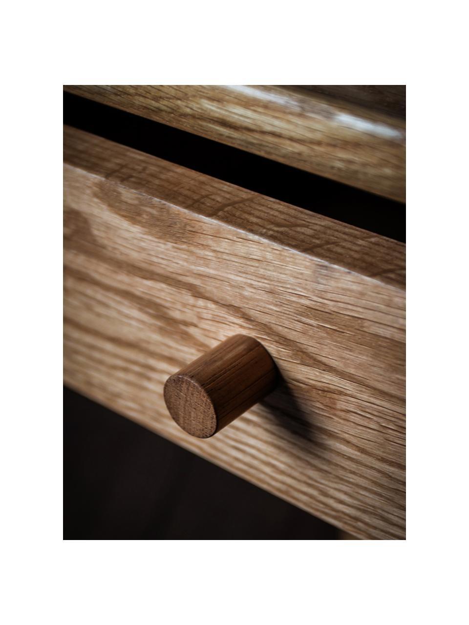 Nachttisch Wycombe aus Eichenholz, Eichenholz, 50 x 63 cm