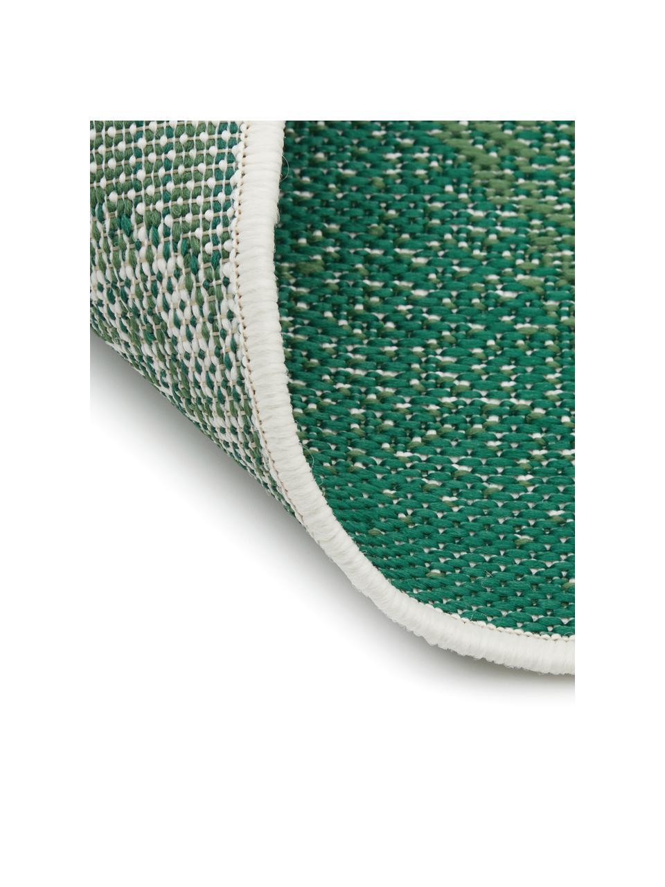 In- & Outdoor-Teppich Jungle mit Blattmuster, 86% Polypropylen, 14% Polyester, Cremeweiß, Grün, B 200 x L 290 cm (Größe L)