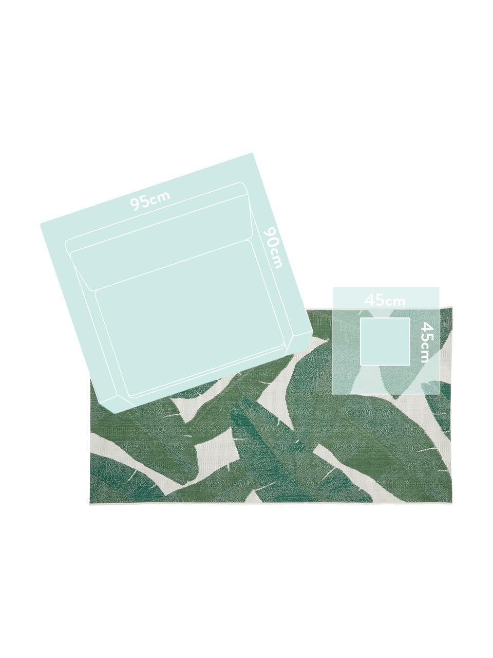 Dywan wewnętrzny/zewnętrzny Jungle, 86% polipropylen, 14% poliester, Kremowobiały, zielony, S 200 x D 290 cm (Rozmiar L)