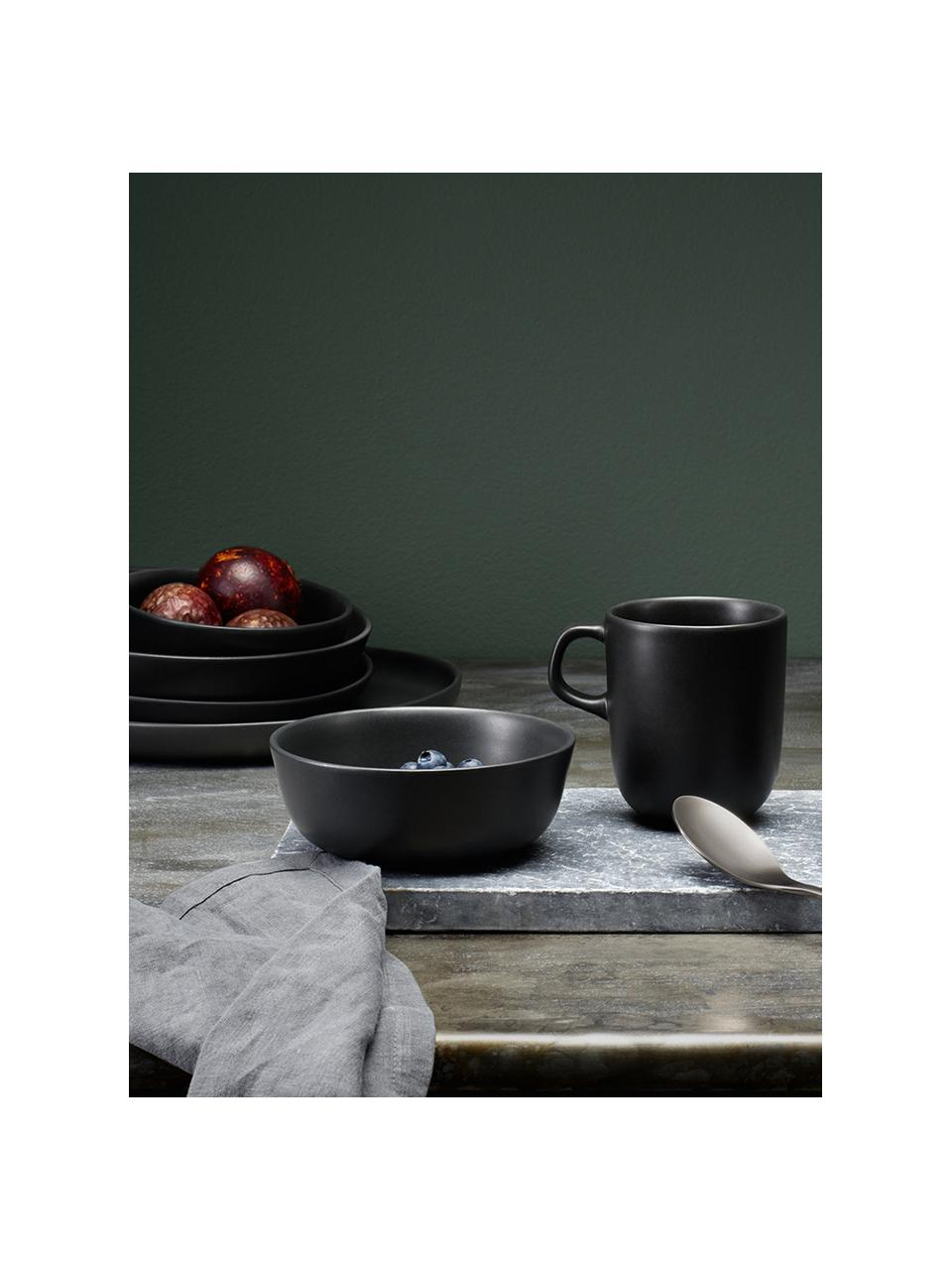 Ciotola Nordic Kitchen 4 pz, Gres, Nero opaco, 400 ml