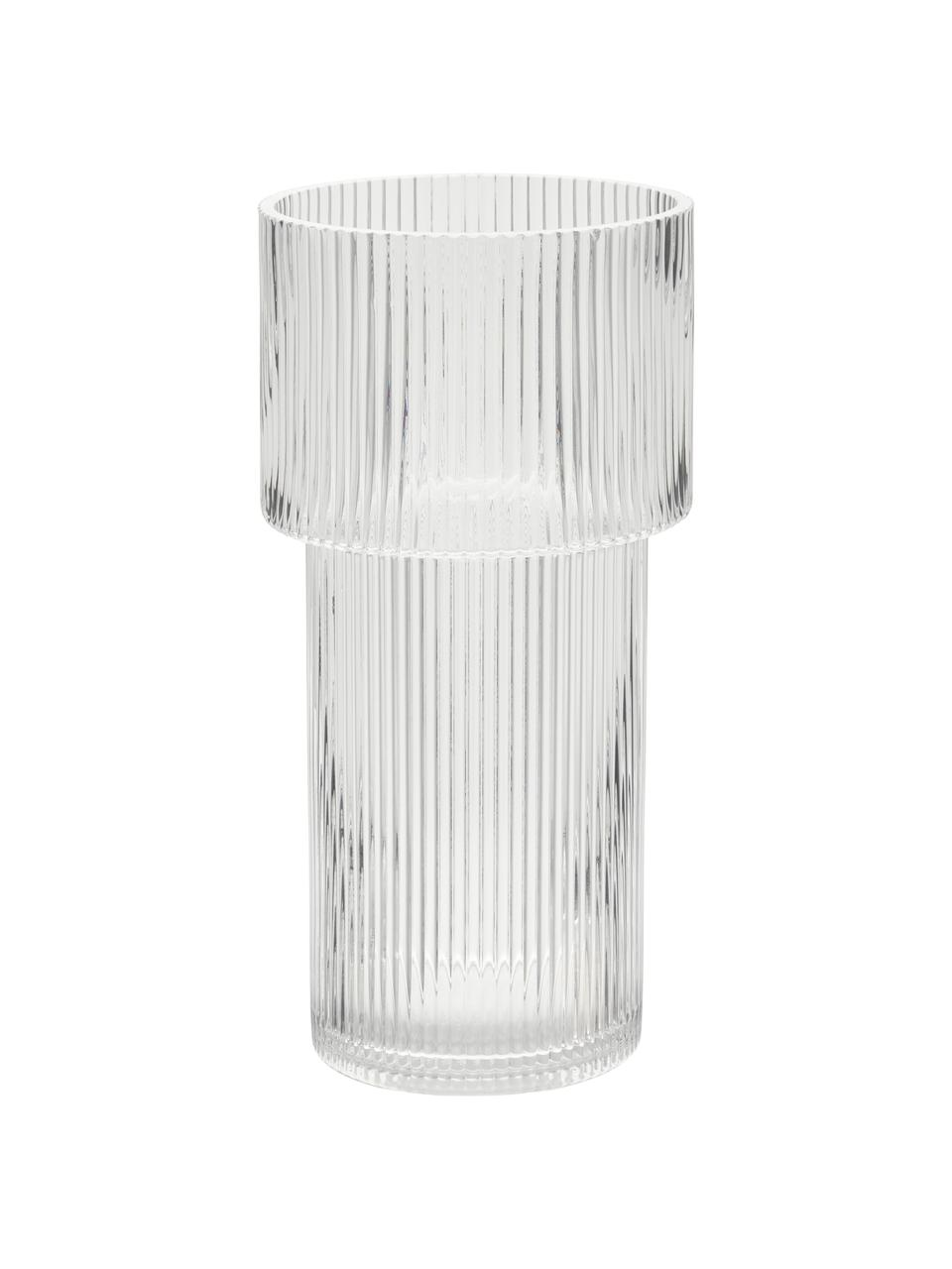 Glazen vaas Lija, Glas, Transparant, Ø 14 x H 30 cm