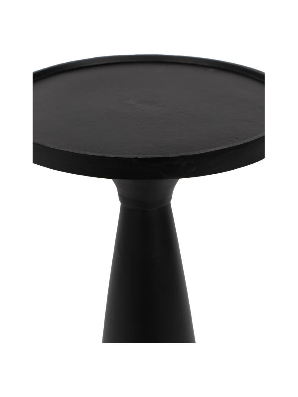 Moderne bijzettafel Floss in zwart, Gepoedercoat aluminium, Mat zwart, Ø 28 x H 56 cm