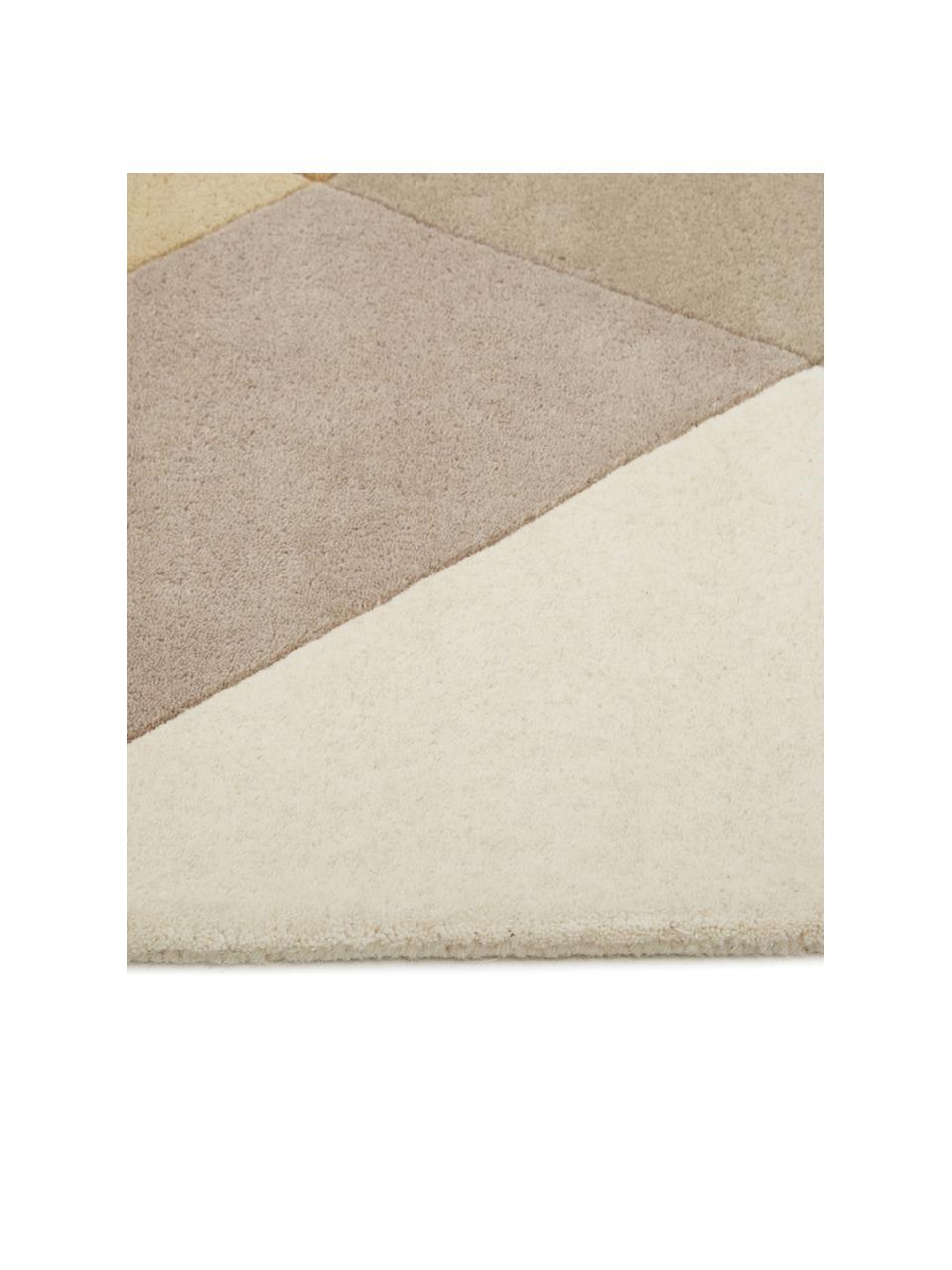 Ręcznie tuftowany dywan z wełny  Freya, Musztardowy, beżowy, szary, brązowy, S 200 x D 300 cm