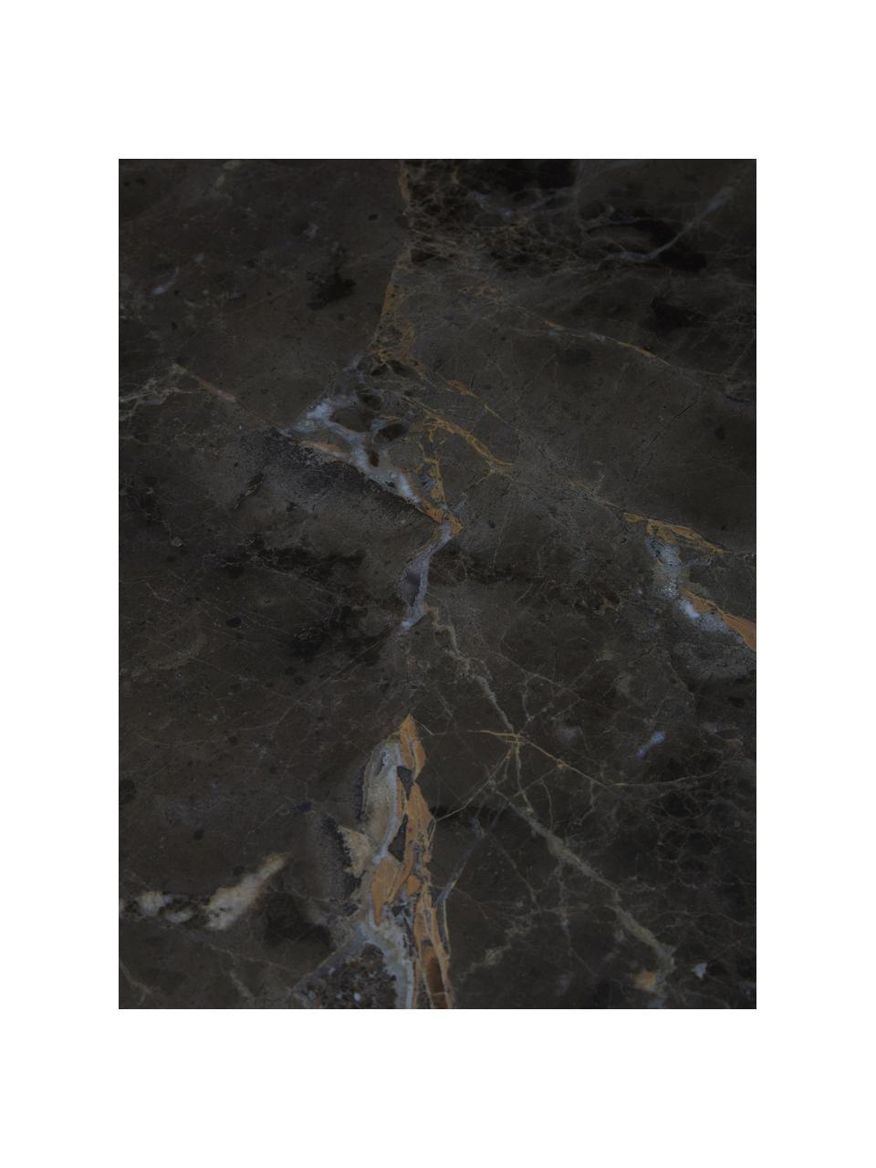 Marmor-Konsole Emperor mit Messing-Gestell, Gestell: Messing, Ablagefläche: Marmor, Messing, Dunkelbraun, Beige, B 110 x T 40 cm