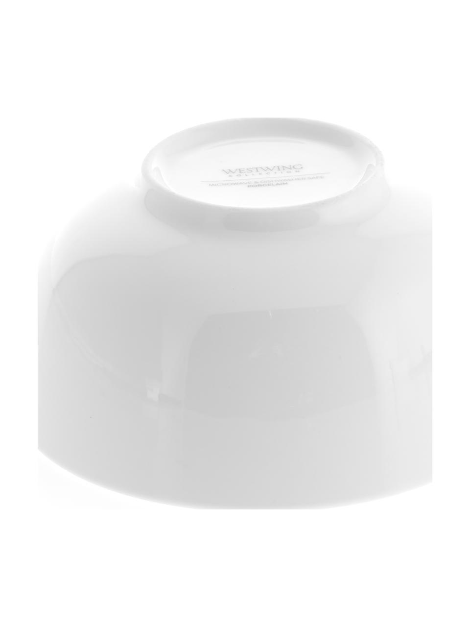 Porzellan-Schälchen Delight in Weiß, 2 Stück, Porzellan, Weiß, Ø 14 x H 7 cm