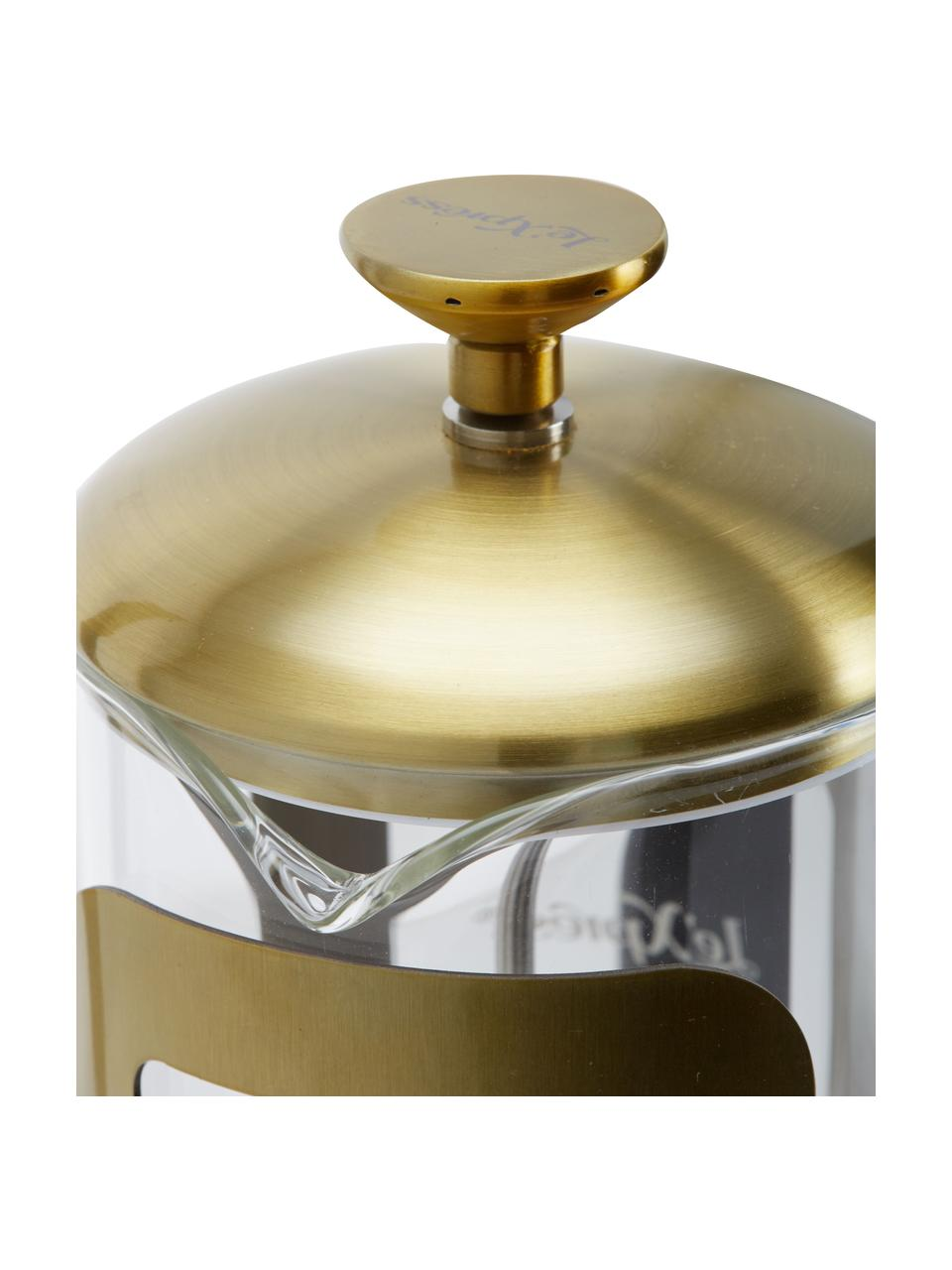 Kaffeebereiter Le'Xpress in Gold/Transparent, Borosilikatglas, Metall, beschichtet, Transparent, Messingfarben, 1 l