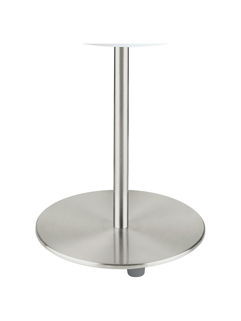Lampada da tavolo classica Mick, Paralume: tessuto, Base della lampada: metallo nichelato, Bianco, argentato, Ø 18 x Alt. 40 cm