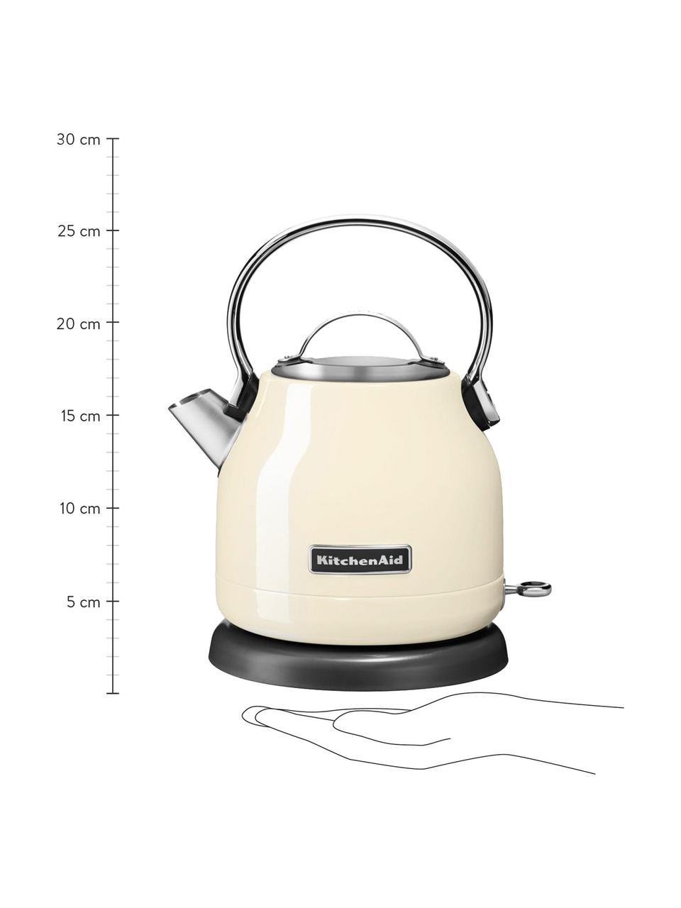 Bollitore elettrico KitchenAid, Acciaio inossidabile, Crema lucido, Larg. 23 x Alt. 26 cm
