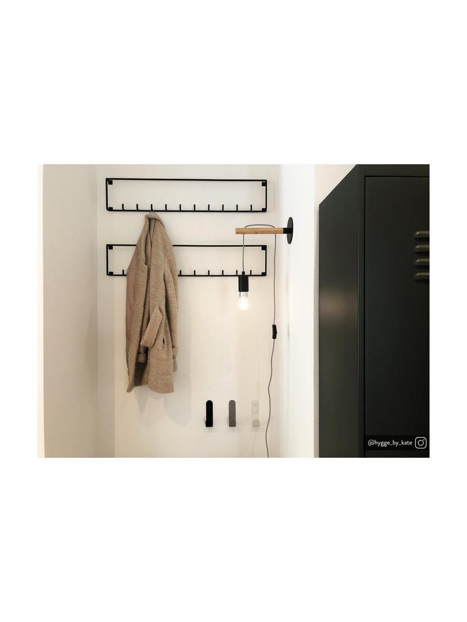 Applique dimmerabile con spina James, Rilegatura e fissaggio: nero Attacco: legno, Larg. 11 x Alt. 26 cm