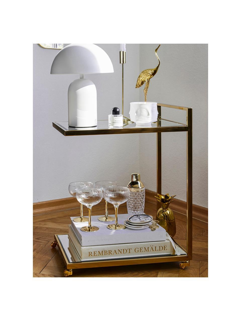 Cocktail shaker trasparente/dorato Jolin, Shaker: vetro, Trasparente, dorato, Ø 9 x Alt. 22 cm