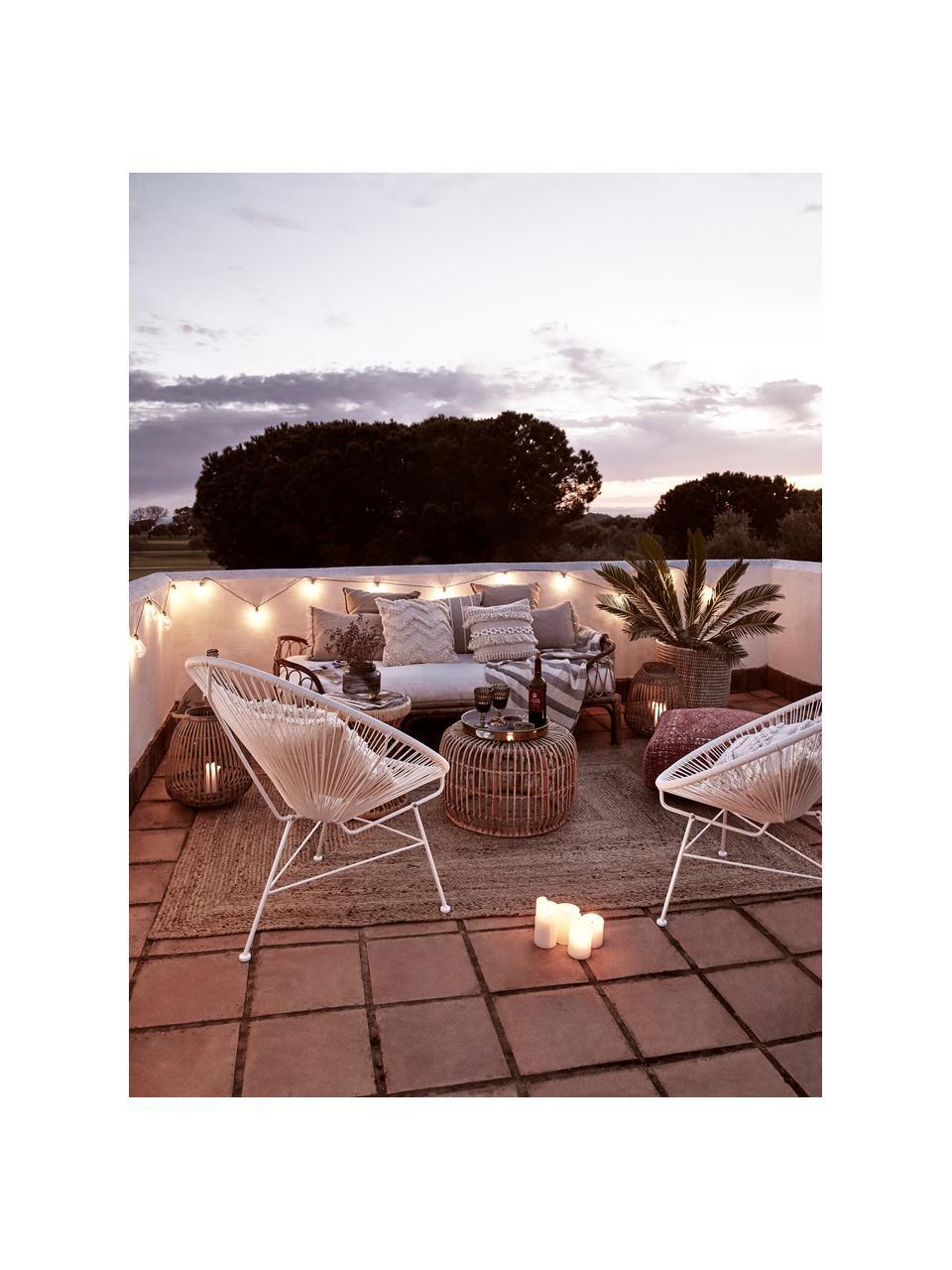 Loungesessel Bahia aus Kunststoff-Geflecht, Sitzfläche: Kunststoff, Gestell: Metall, pulverbeschichtet, Weiss, B 81 x T 73 cm