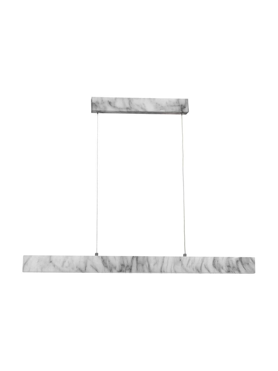 Lampa wisząca LED z imitacją marmuru Pierce, Biały, marmurowy, S 90 x W 10 cm