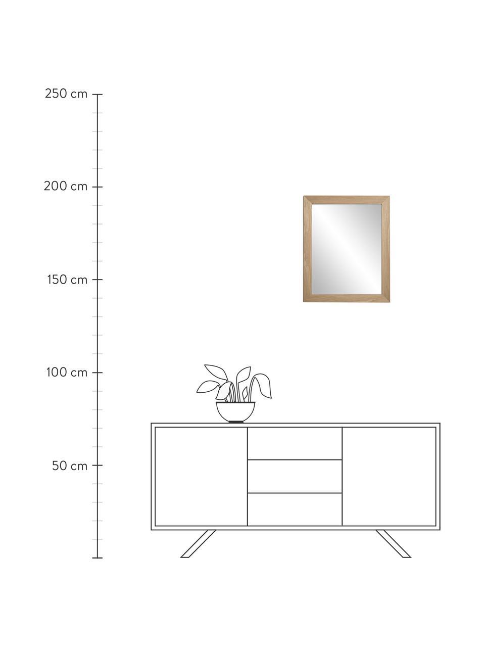 Wandspiegel Wilany met houten lijst, Lijst: hout, Beige, 47 x 58 cm