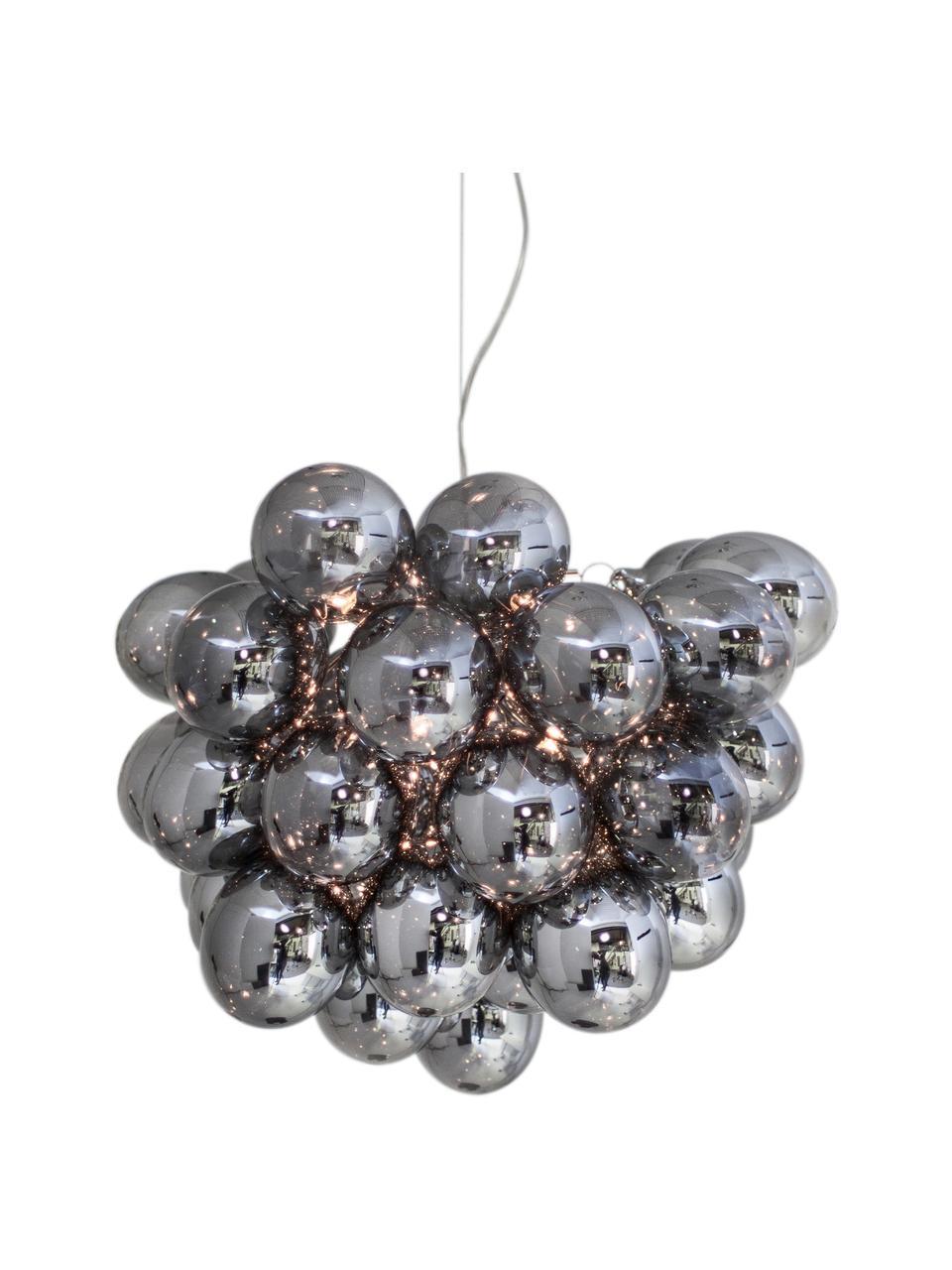 Suspension design grappe à sphères multiples en verre chromé Gross, Chrome
