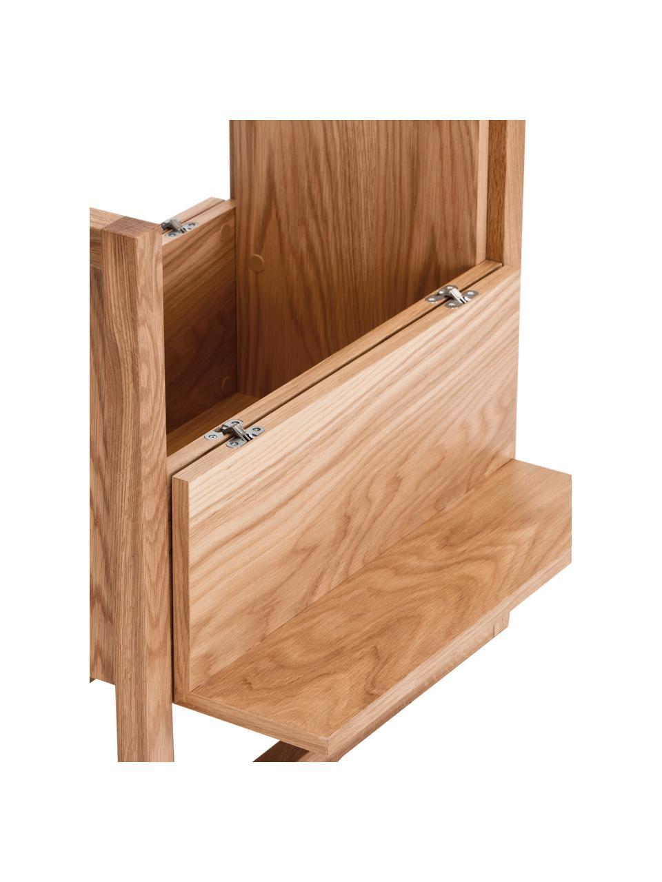 Minibar z drewna dębowego NewEst, Korpus: płyta pilśniowa (MDF) z f, Drewno dębowe, S 59 x W 60 cm