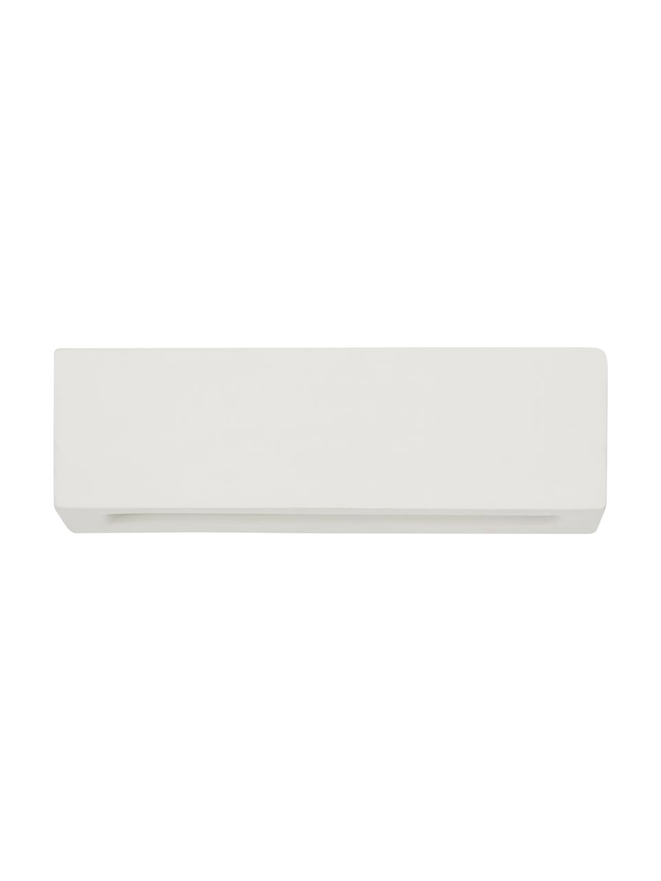 Keramik-Wandleuchte Madrid, Lampenschirm: Keramik, matt, Cremeweiß, 32 x 9 cm