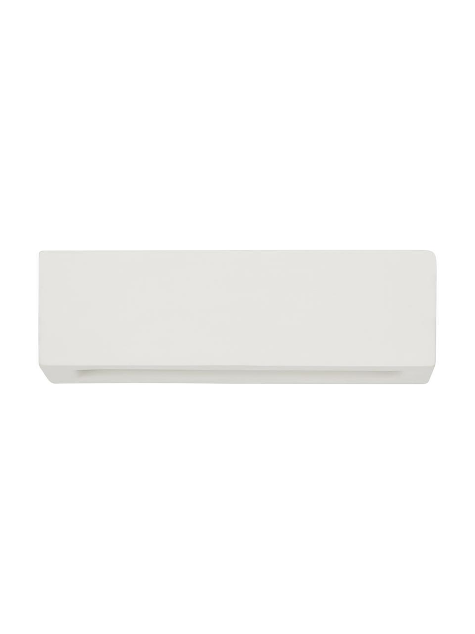 Kinkiet z ceramiki Madrid, Kremowobiały, S 32 x W 9 cm