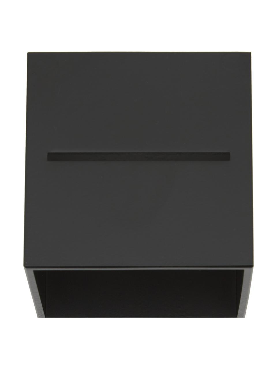 Petite applique murale noire Lorum, Noir