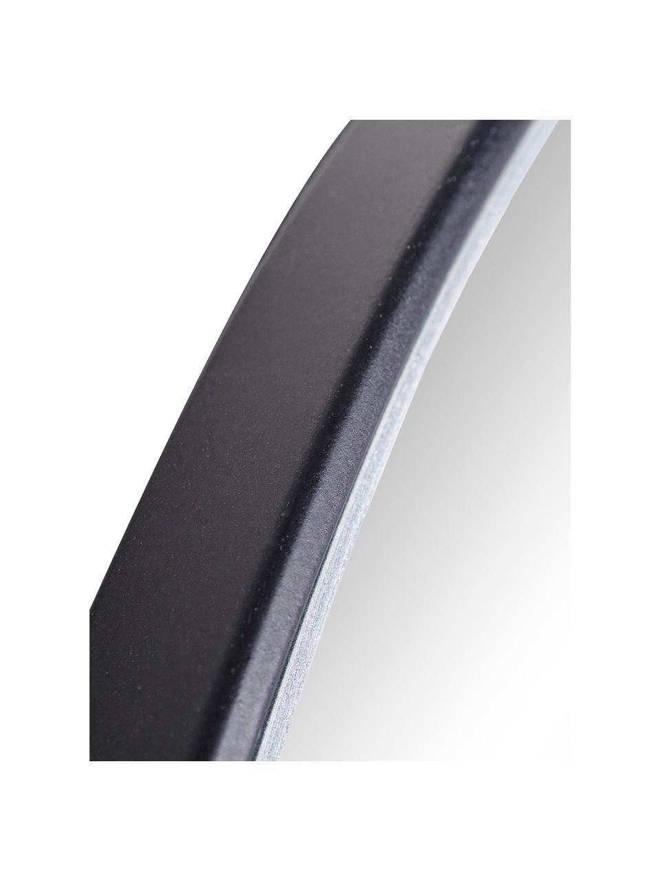 Okrągłe lustro ścienne Nucleos, Czarny, Ø 70 cm