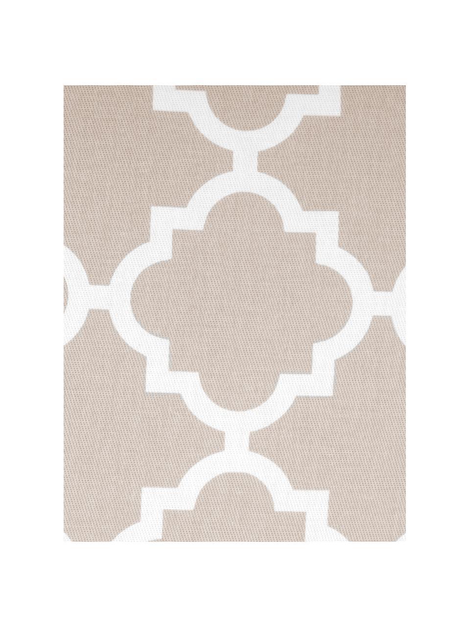 Kussenhoes Lana in beige met grafisch patroon, 100% katoen, Beige, wit, 45 x 45 cm
