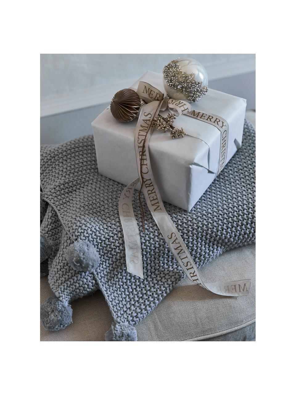 Geschenkband Textire, Polyester, Hellbraun, Goldfarben, 3 x 1500 cm