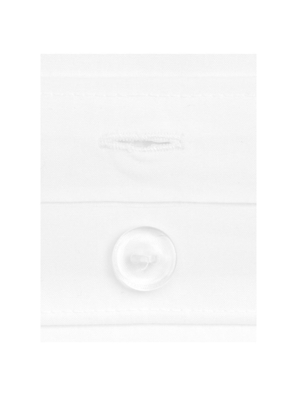 Pościel z perkalu z lamówką Joanna, Biały, szary, 240 x 220 cm
