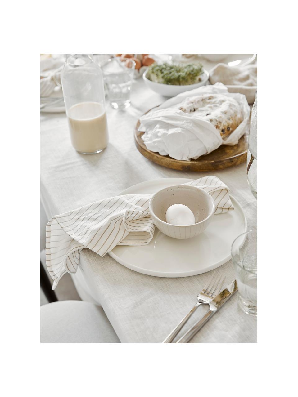 Serwetka z tkaniny Nicole, 2 szt., Bawełna, Biały, beżowy, S 50 x D 50 cm