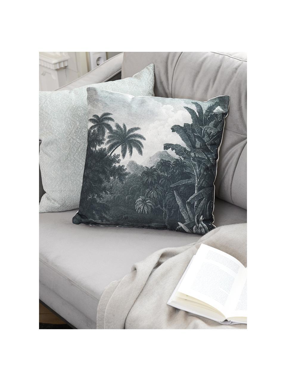 Sofa z aksamitu z drewnianymi nogami Alva (2-osobowa), Tapicerka: aksamit (wysokiej jakości, Nogi: lite drewno bukowe, barwi, Aksamitny szary, S 184 x G 92 cm