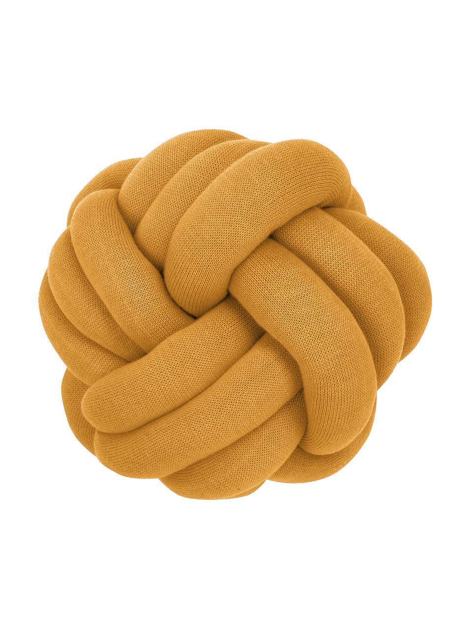 Poduszka supeł Twist, Musztardowy, Ø 30 cm
