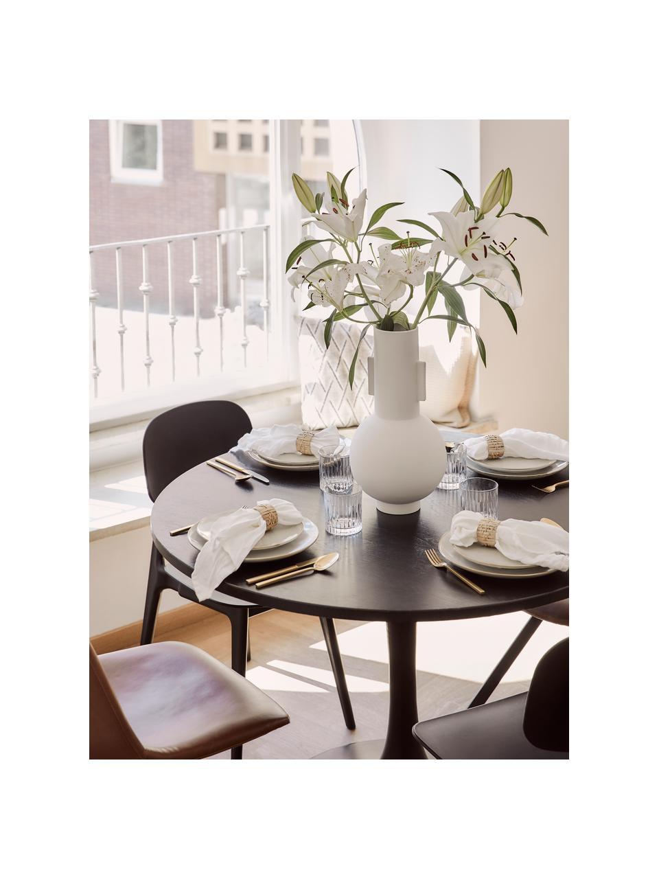 Vaso moderno in ceramica Mask, Ceramica, Bianco, Ø 21 x Alt. 43 cm