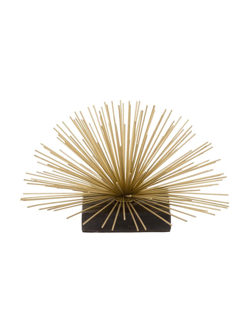 Dekoracja Marburch, Nogi: marmur, Nasada: odcienie złotego Podstawa: czarny marmur, Ø 21 x W 13 cm
