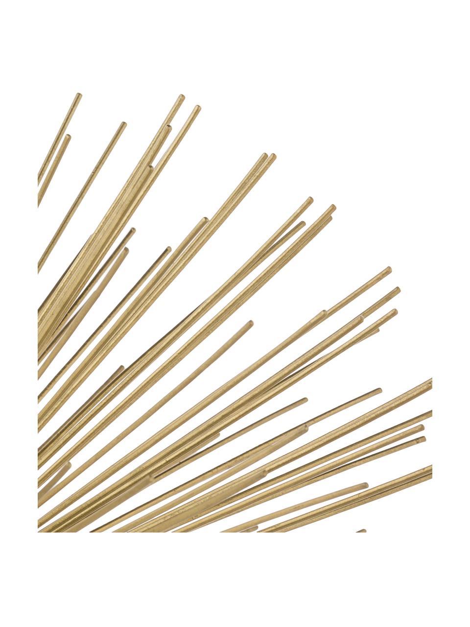 Oggetto decorativo Marburch, Ornamento: metallo, Ornamento: dorato, Base: marmo nero, Ø 21 x Alt. 13 cm