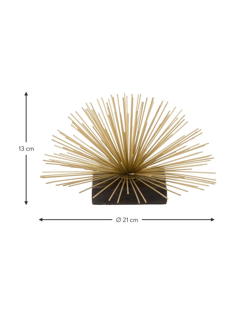 Objet décoratif Marburch, Ornement: couleur dorée Pied: marbre noir