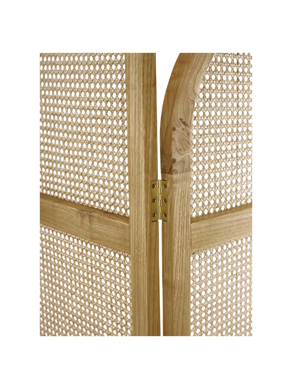 Paravent Webbing mit Wiener Geflecht, Rahmen: Sungkai Holz, Wiener Geflecht: Zuckerrohr, Sungkai Holz, 150 x 180 cm
