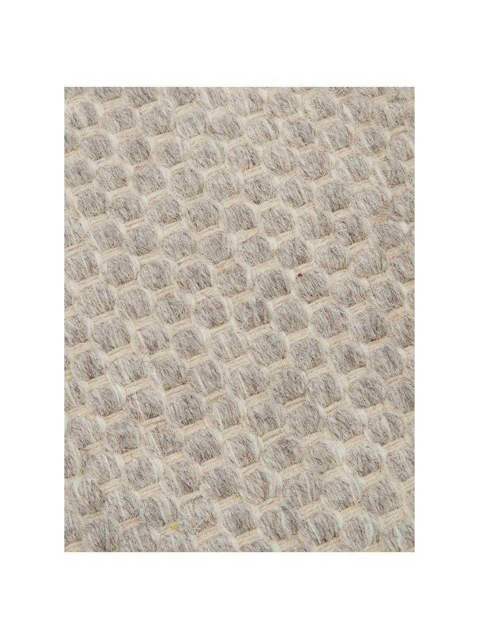 Ręcznie tkany dywan kilim z wełny Delight, 90% wełna, 10% bawełna Włókna dywanów wełnianych mogą nieznacznie rozluźniać się w pierwszych tygodniach użytkowania, co ustępuje po pewnym czasie, Jasny szary, S 200 x D 300 cm (Rozmiar L)