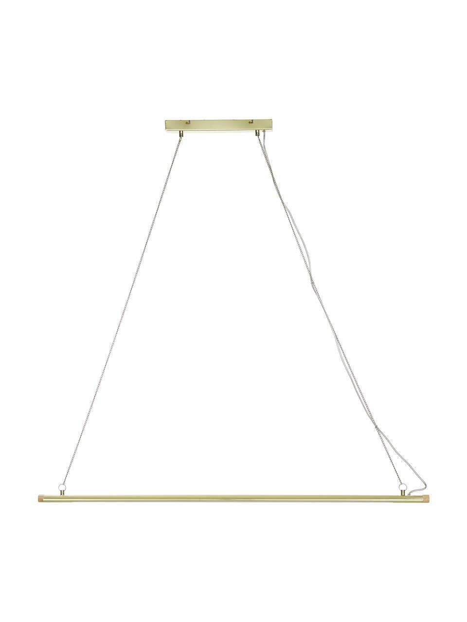 Lampada a sospensione a LED Lumina, Paralume: metallo verniciato, Baldacchino: metallo verniciato, Struttura: metallo, Ottonato, Larg. 124 x Alt. 2 cm
