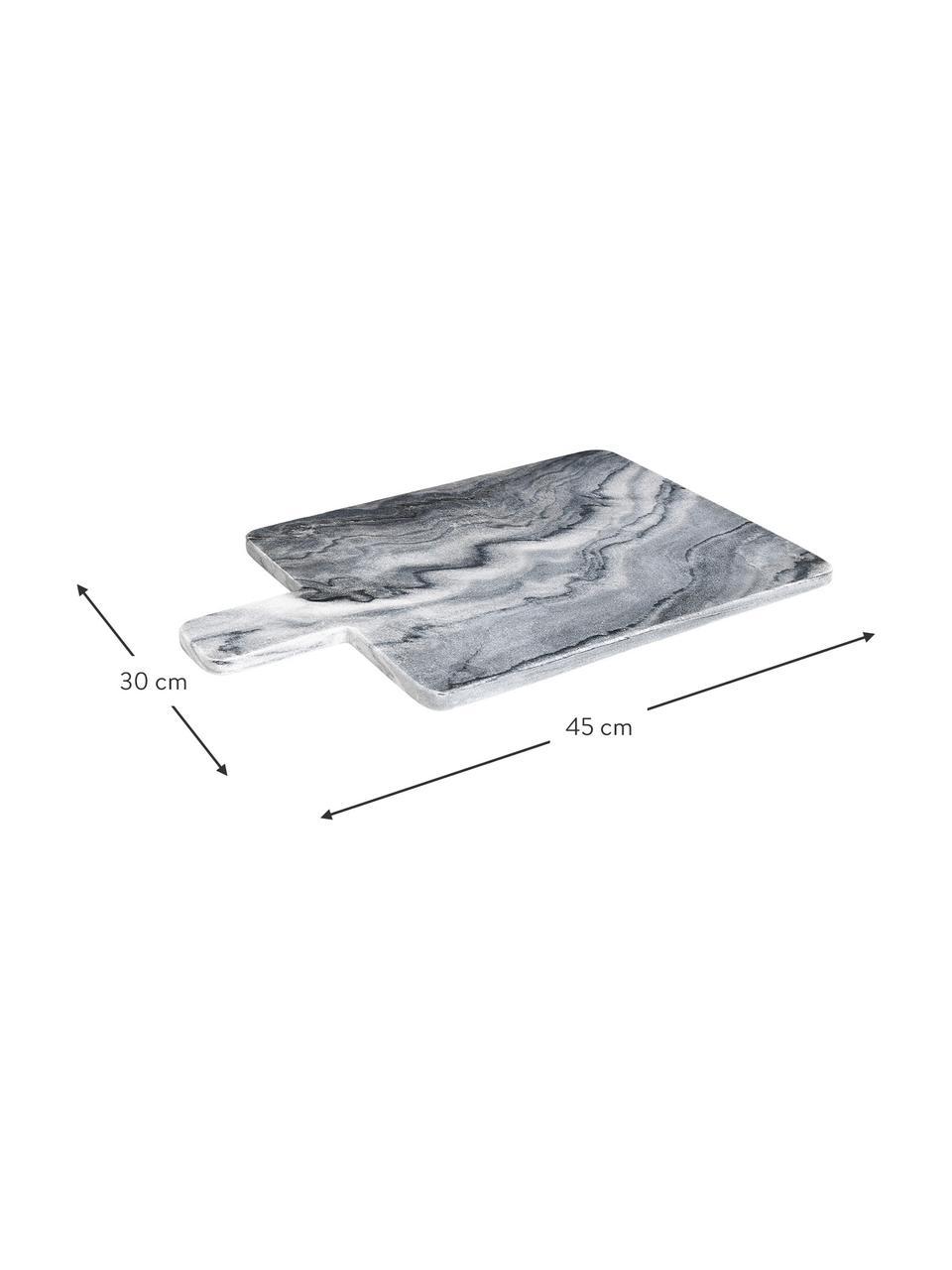 Marmeren snijplank Adam, L 45 x B 30 cm, Marmer, Grijs, 30 x 45 cm