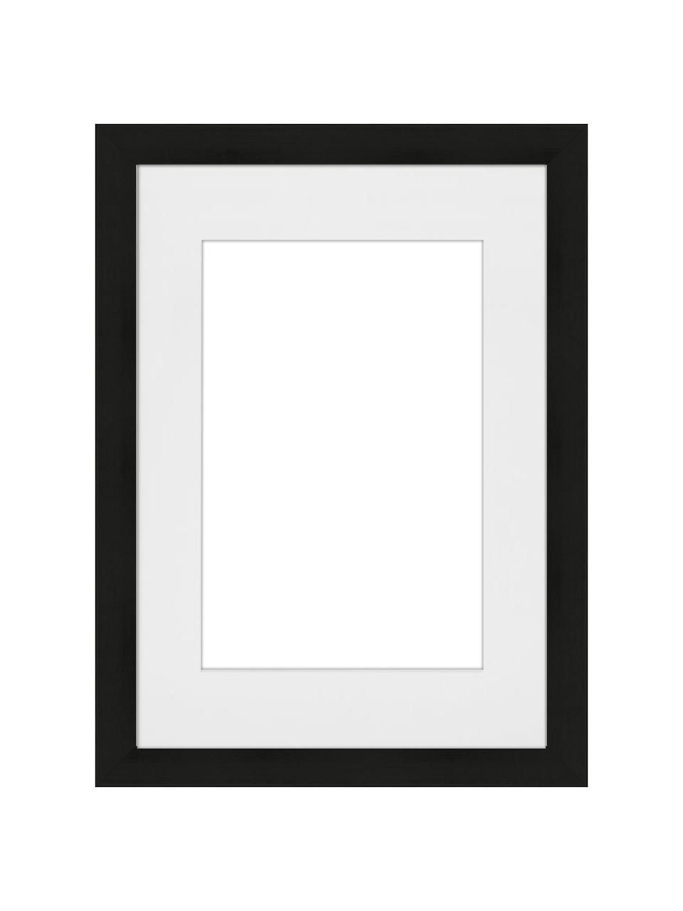 Bilderrahmen Apollon, Rahmen: Monterey-Kiefernholz, lac, Front: Glas, Rückseite: Mitteldichte Holzfaserpla, Schwarz, 21 x 30 cm