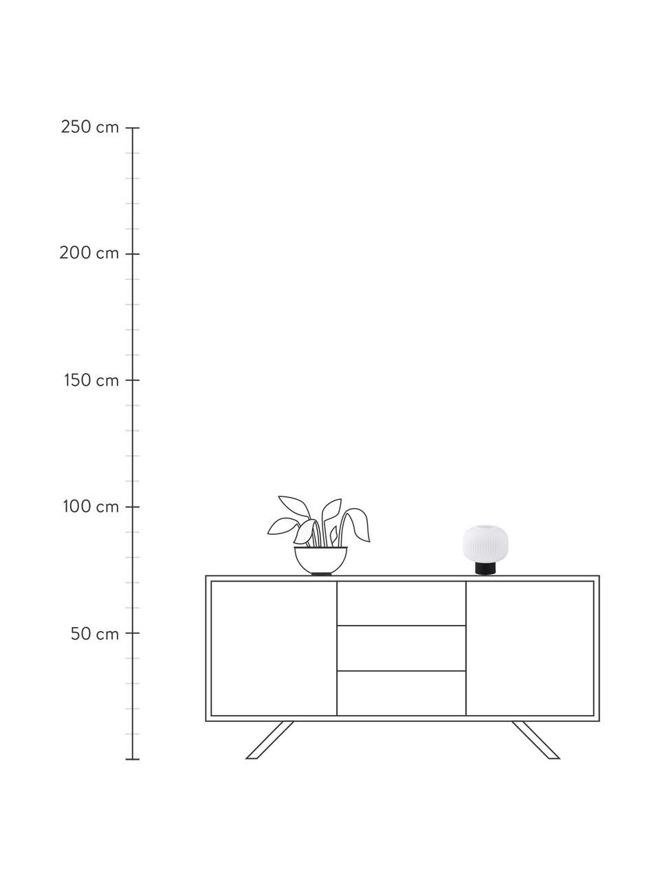 Lampada da tavolo in vetro opale Milford, Paralume: vetro opale, Base della lampada: metallo rivestito, Nero, bianco opalino, Ø 20 x Alt. 20 cm