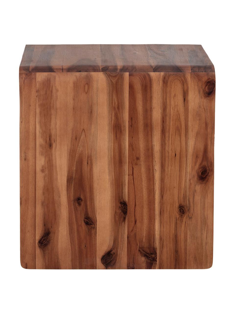Table de chevet bois d'acacia Hassel, Brun