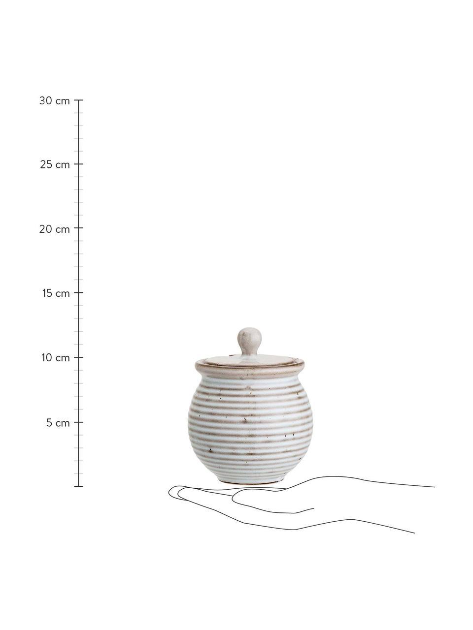 Zuckerdose Stag, Steingut, Grau, Braun, Ø 10 x H 12 cm