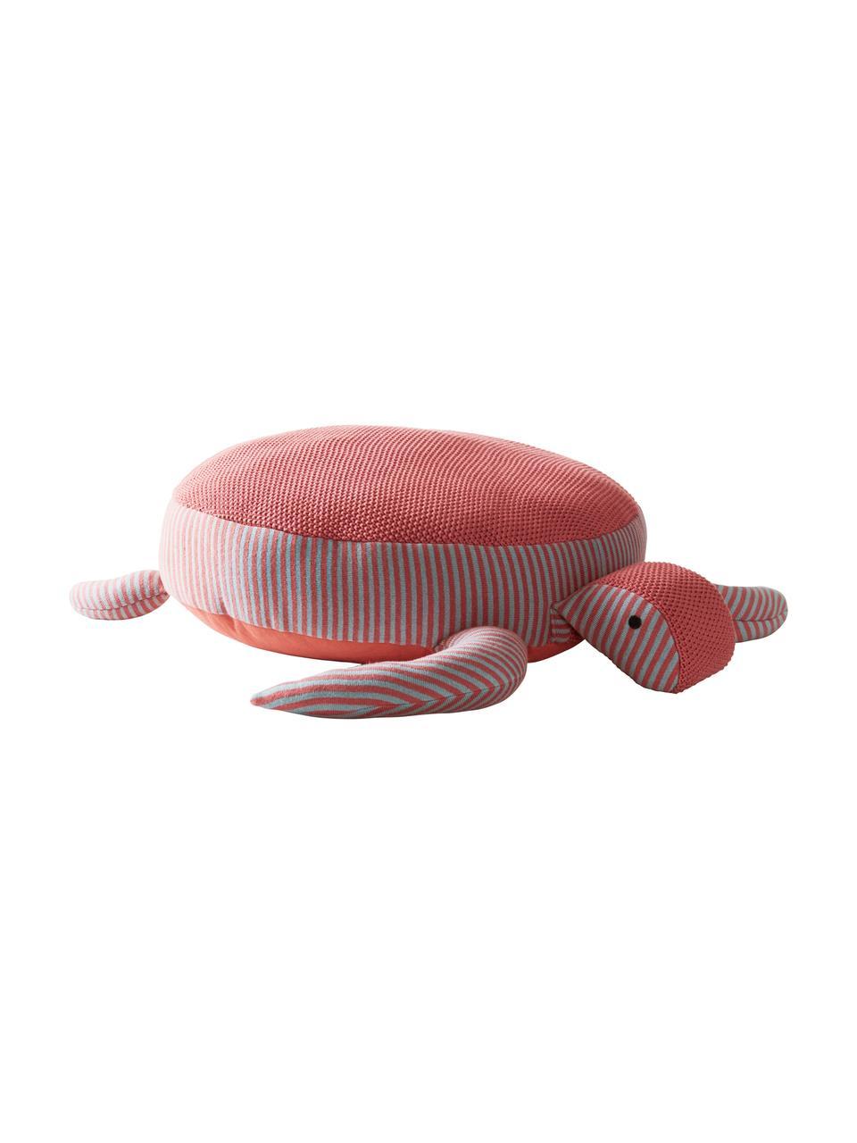Poduszka podłogowa z bawełny organicznej Zane, Tapicerka: bio-bawełna, Koralowy, szary, S 60 x W 25 cm