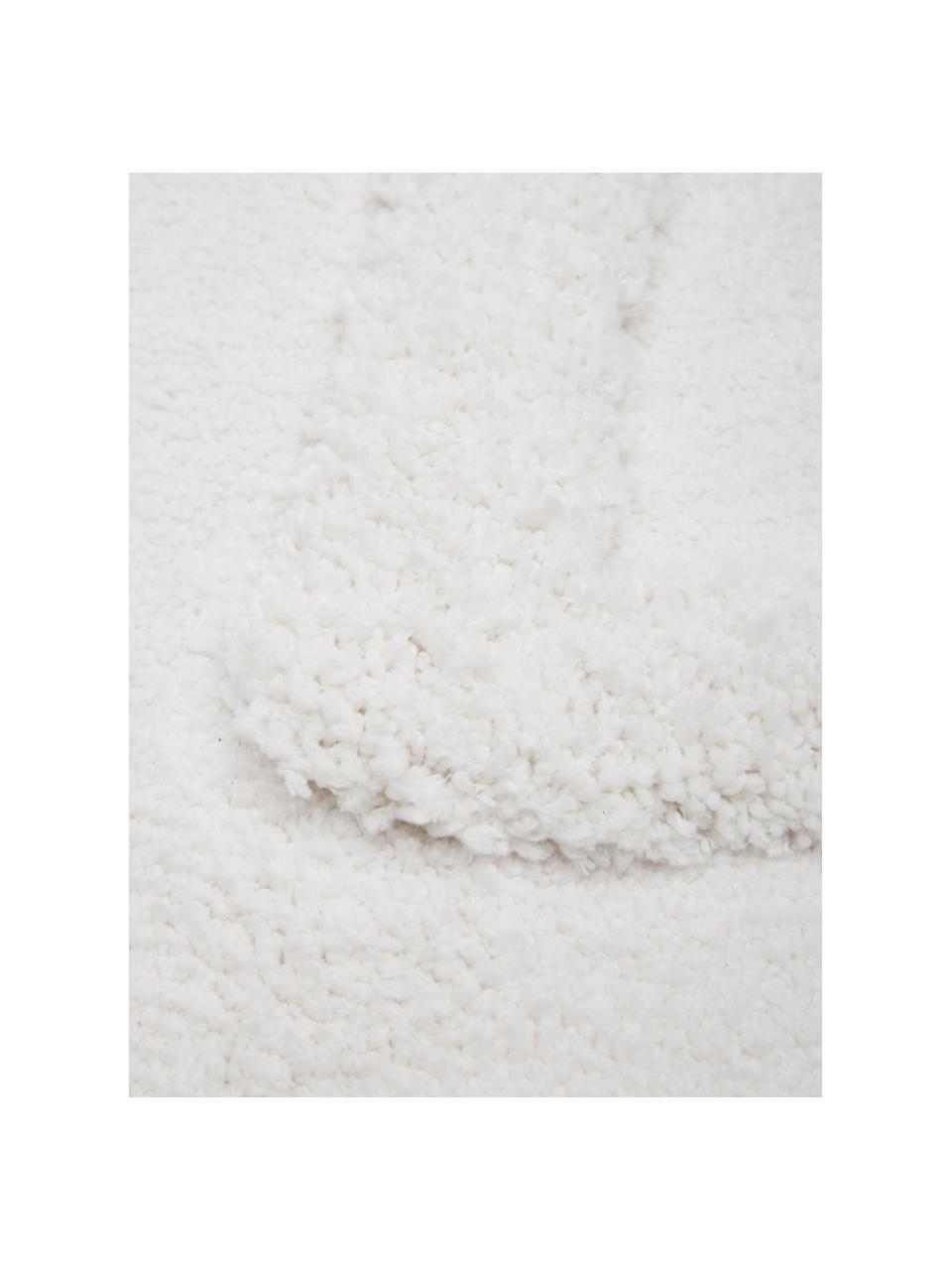 Flauschiger Boho Hochflorteppich Magda mit erhabener Hoch-Tief-Struktur, Flor: Mikrofaser (100% Polyeste, Beige, B 120 x L 180 cm (Größe S)