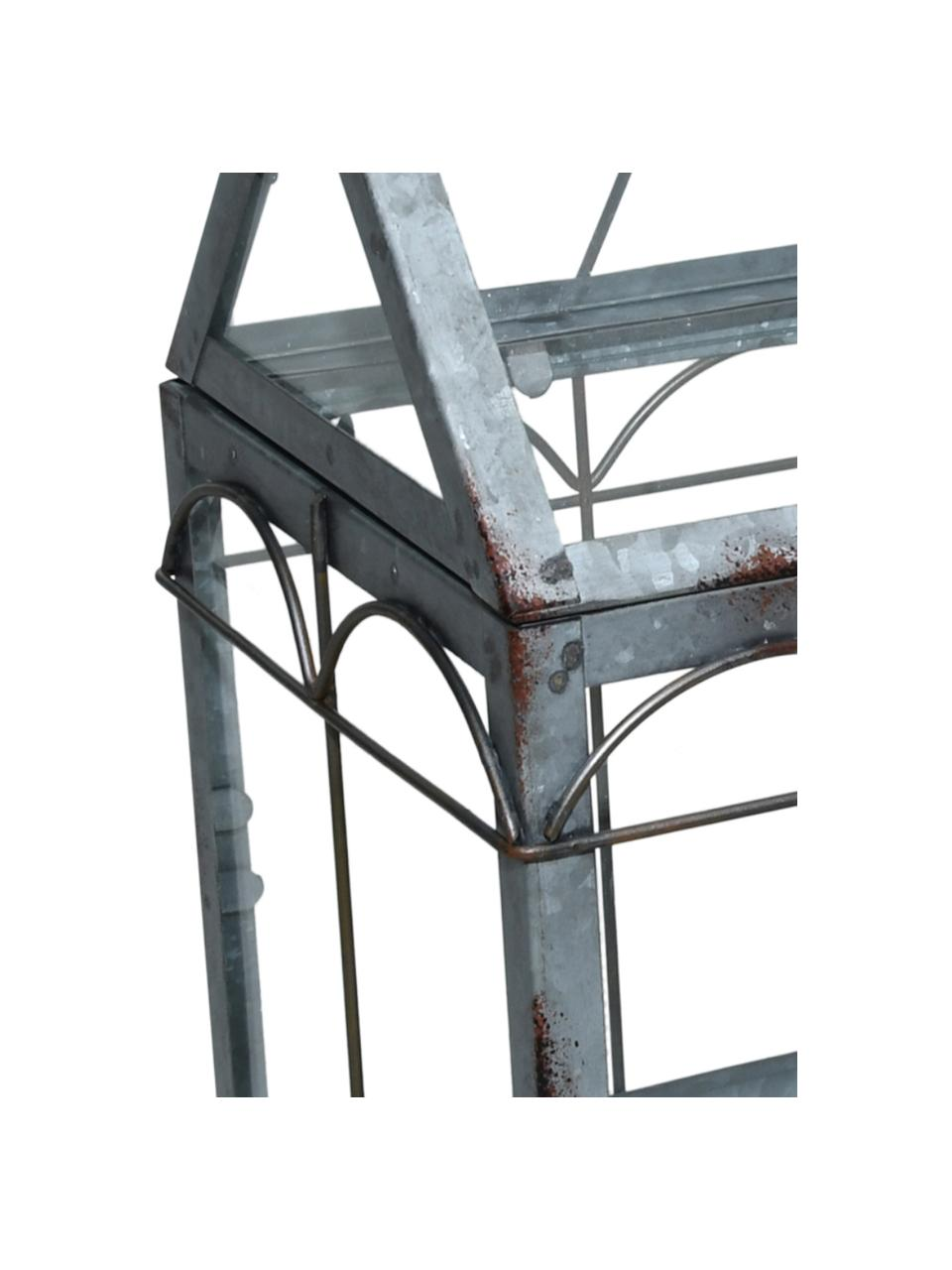 Szklarnia Mallory, Szkło, metal, Szary, S 36 x W 33 cm