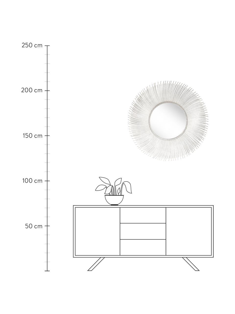 Ronde wandspiegel Lilly met zilverkleurige frame, Frame: metaal, Zilverkleurig, Ø 90 cm
