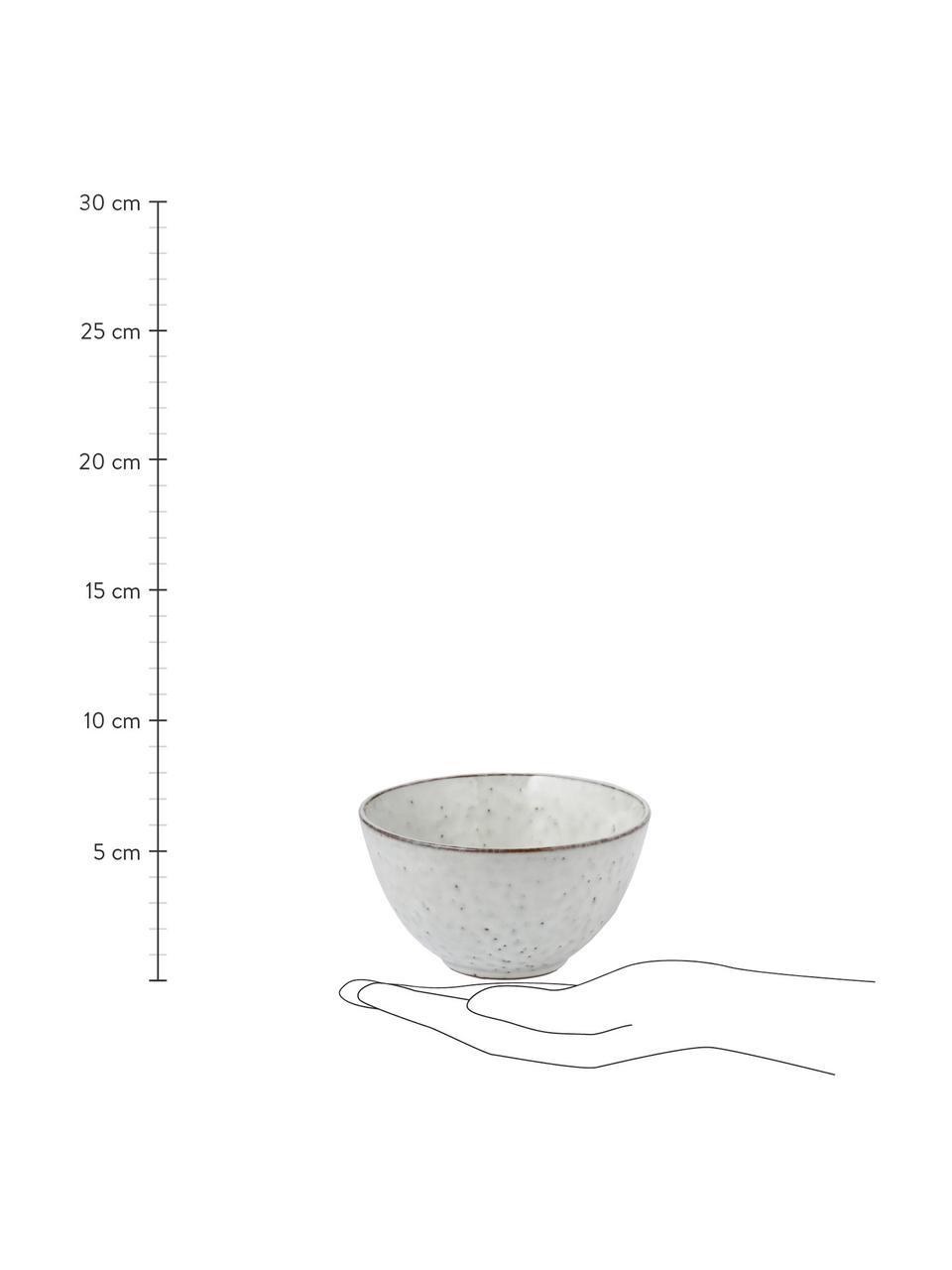 Ręcznie wykonana miska z kamionki Nordic Sand, 4 szt., Kamionka, Odcienie piaskowego, Ø 15 x W 8 cm
