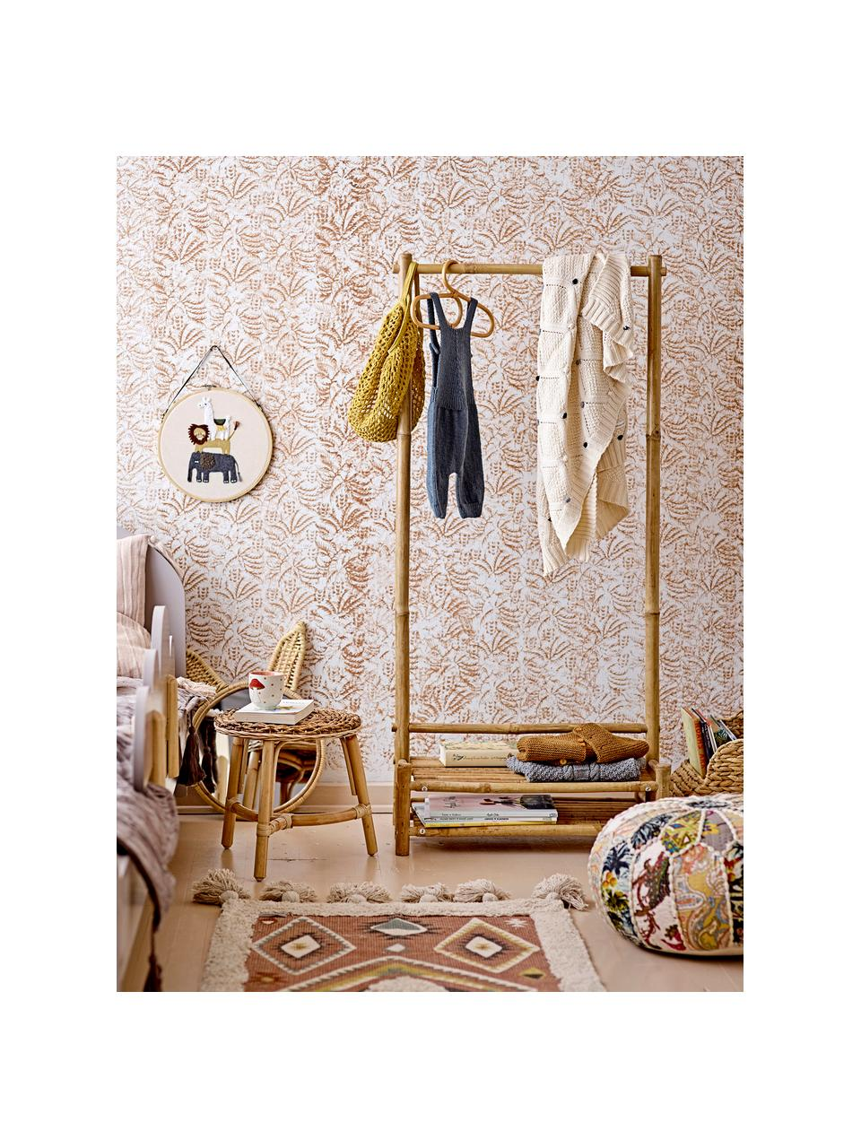 Kleiderbügel Aranya, 4 Stück, Rattan, Beige, 30 x 17 cm
